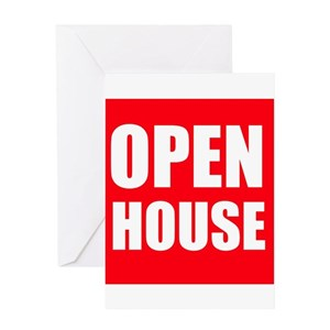 open house greeting cards cafepress