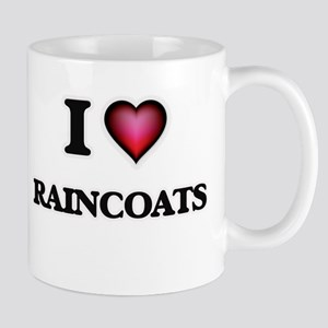 I Love Raincoats Mugs