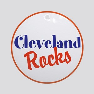 Cleveland Rocks Round Ornament