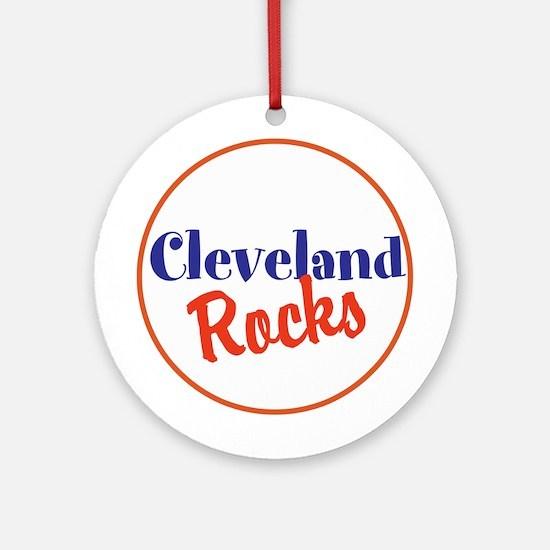 Cleveland Rocks Round Ornament