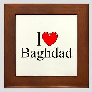 """""""I Love Baghdad"""" Framed Tile"""