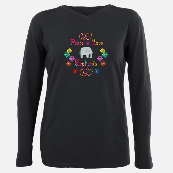 Cool Animals Plus Size Long Sleeve Tee