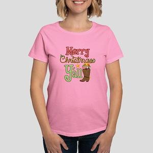 Christmas Y'all Women's Dark T-Shirt