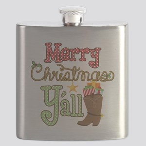 Christmas Y'all Flask