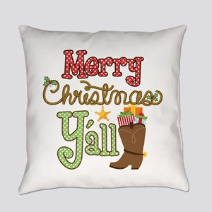 Christmas Y'all Everyday Pillow