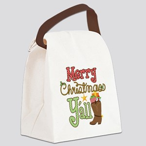 Christmas Y'all Canvas Lunch Bag