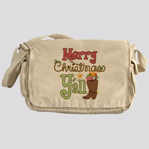 Christmas Y'all Messenger Bag