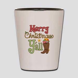 Christmas Y'all Shot Glass