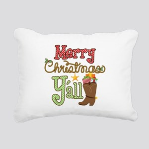 Christmas Y'all Rectangular Canvas Pillow