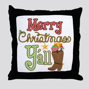 Christmas Y'all Throw Pillow