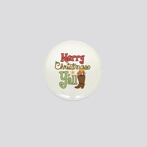 Christmas Y'all Mini Button