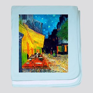 Cafe Terrace at Night by Van Gogh baby blanket
