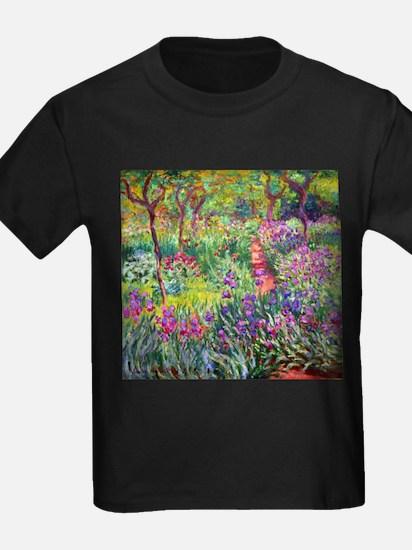The Iris Garden by Claude Monet T-Shirt