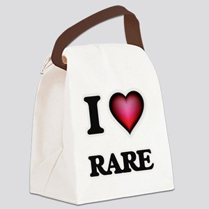 I Love Rare Canvas Lunch Bag