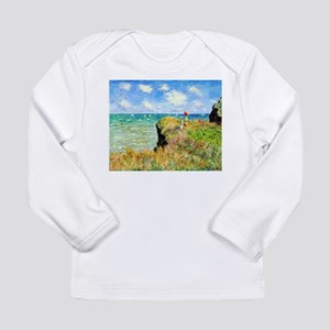Clifftop Walk at Pourville by Long Sleeve T-Shirt