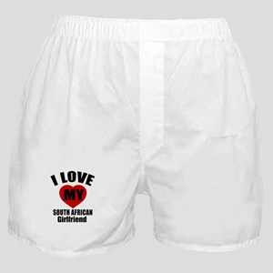I Love My South Africa Girlfriend Boxer Shorts