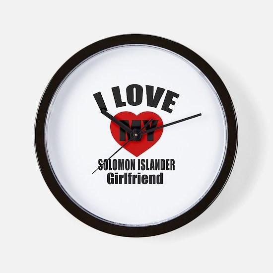 I Love My Somaliland Girlfriend Wall Clock