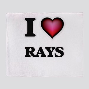 I Love Rays Throw Blanket