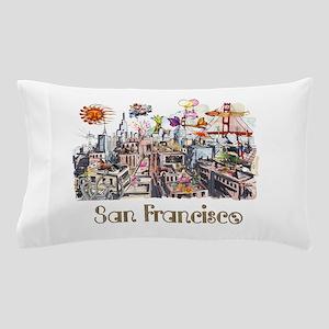 San Francisco Crazy City Rooftops Pillow Case