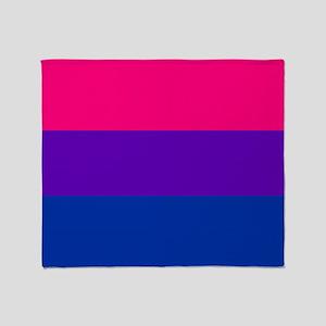 Solid Bisexual Pride Flag Throw Blanket