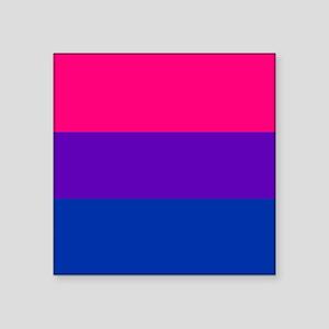 "Solid Bisexual Pride Flag Square Sticker 3"" x 3"""