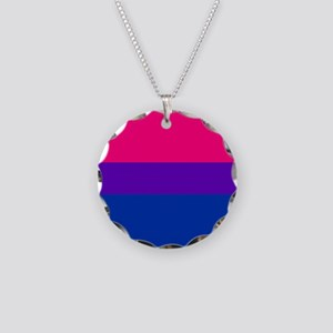 Solid Bisexual Pride Flag Necklace Circle Charm
