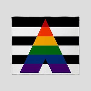 Solid LGBT Ally Pride Flag Throw Blanket