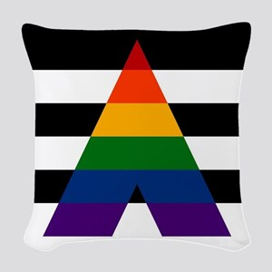 Solid LGBT Ally Pride Flag Woven Throw Pillow