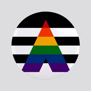 Solid LGBT Ally Pride Flag Button