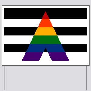 Solid LGBT Ally Pride Flag Yard Sign