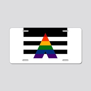 Solid LGBT Ally Pride Flag Aluminum License Plate