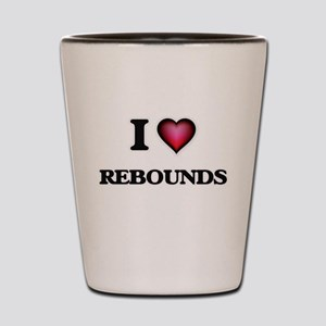 I Love Rebounds Shot Glass