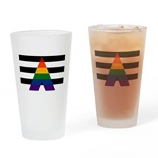 Solid LGBT Ally Pride Flag Drinking Glass