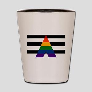 Solid LGBT Ally Pride Flag Shot Glass