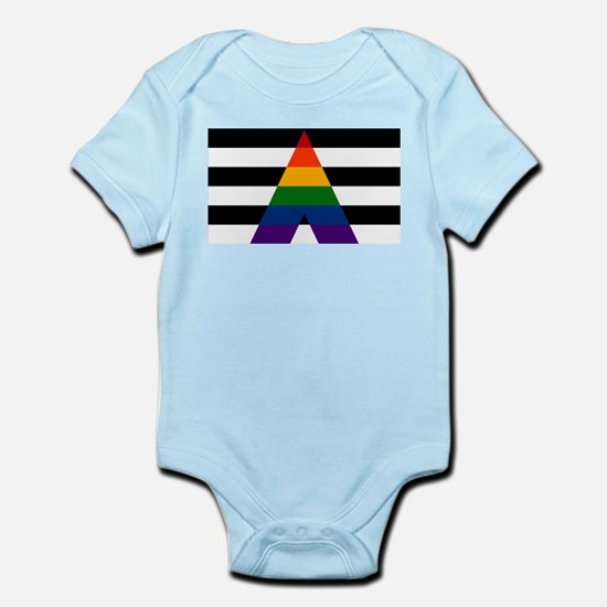 Solid LGBT Ally Pride Flag Body Suit