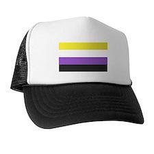 Solid Non-Binary Pride Flag Trucker Hat