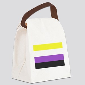 Solid Non-Binary Pride Flag Canvas Lunch Bag
