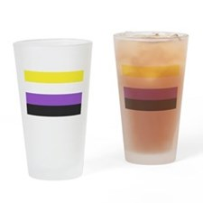 Solid Non-Binary Pride Flag Drinking Glass