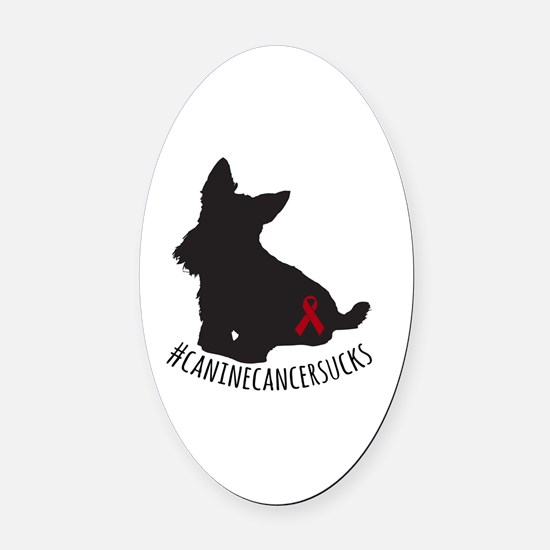 Cute Ribbons Oval Car Magnet