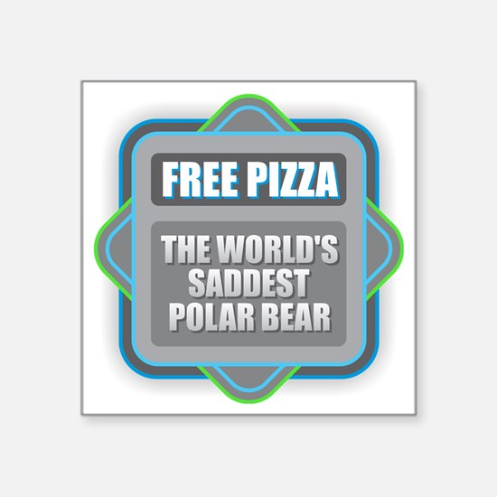 Pizza - Saddest Polar Bear Sticker