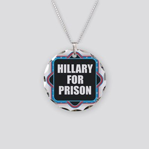 Hillary for Prison Necklace Circle Charm