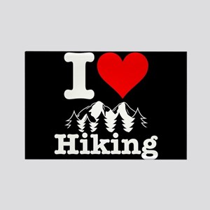 I Heart Hiking Rectangle Magnet