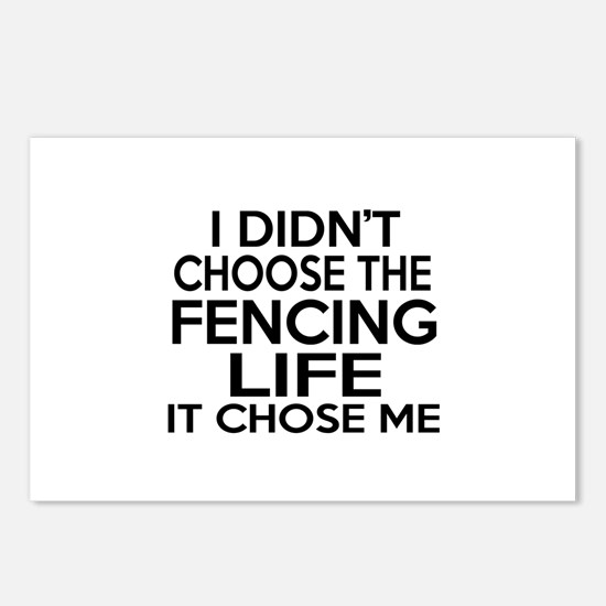 Fencing It Chose Me Postcards (Package of 8)