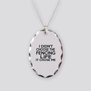 Fencing It Chose Me Necklace Oval Charm