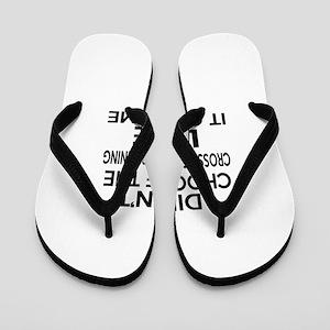 Cross Country Running It Chose Me Flip Flops