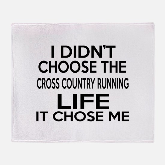 Cross Country Running It Chose Me Throw Blanket