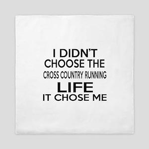 Cross Country Running It Chose Me Queen Duvet