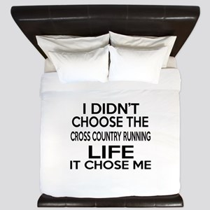 Cross Country Running It Chose Me King Duvet