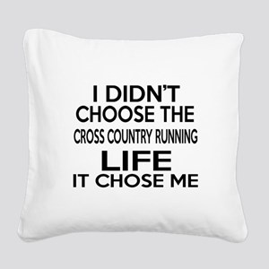 Cross Country Running It Chos Square Canvas Pillow