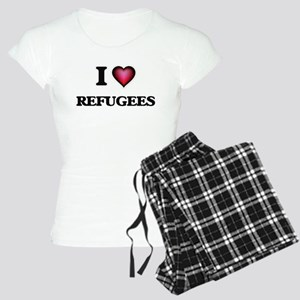 I Love Refugees Women's Light Pajamas